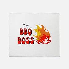 THE BBQ BOSS Throw Blanket