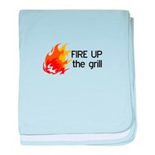 FIRE UP THE GRILL baby blanket