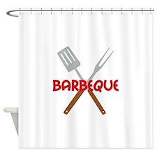 BARBEQUE UTENSILS Shower Curtain