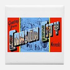 Carson City Nevada Tile Coaster