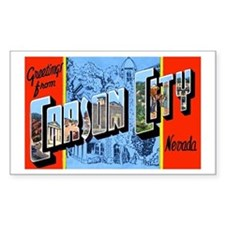 Carson City Nevada Rectangle Bumper Stickers