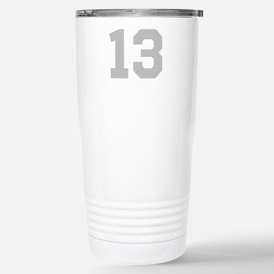 SILVER #13 Stainless Steel Travel Mug
