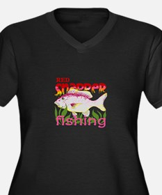RED SNAPPER FISHING Plus Size T-Shirt