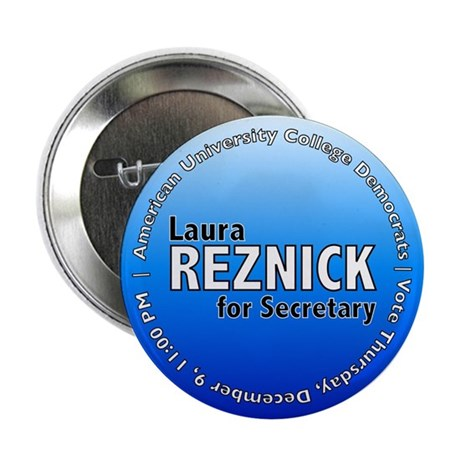 """Laura for Secretary 2.25"""" Button (10 pack)"""