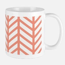Peach Weave Chevrons Mugs