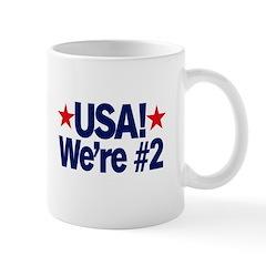 USA! We're #2! mug
