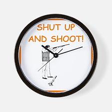 trap shooting joke Wall Clock