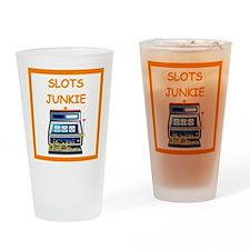 slots joke Drinking Glass