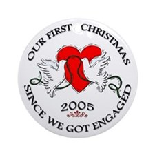 1st Christmas Engaged 2005 Ornament (Round)