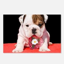 bulldogpuppy valentines.j Postcards (Package of 8)