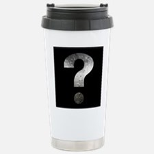 question mark? black an Stainless Steel Travel Mug