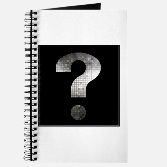 question mark? black and silver Journal