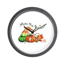 SHARE THE HARVEST Wall Clock