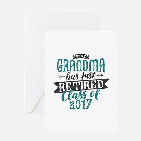 Retired Grandma Greeting Card