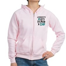 Anxiety Lets Find A Cure Zip Hoodie