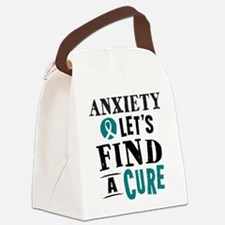 Anxiety Lets Find A Cure Canvas Lunch Bag