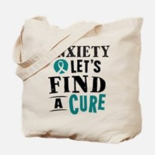 Anxiety Lets Find A Cure Tote Bag
