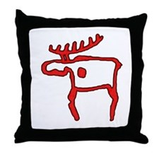 Cave Moose Throw Pillow