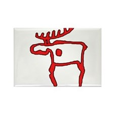 Cave Moose Rectangle Magnet
