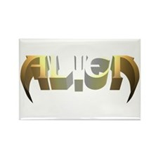 """Alien"" Earth Tones Rectangle Magnet"