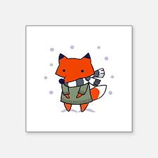 FOX IN WINTER Sticker