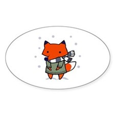 FOX IN WINTER Decal