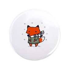 "FOX IN WINTER 3.5"" Button"