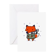 FOX IN WINTER Greeting Cards