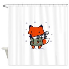 FOX IN WINTER Shower Curtain