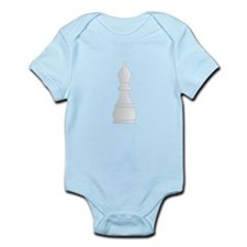 White bishop chess piece Body Suit