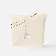 White bishop chess piece Tote Bag