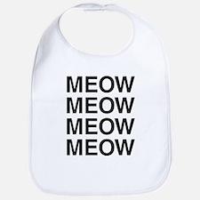 Meow Meow Meow Meow Bib