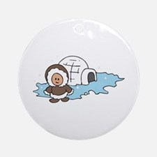 ESKIMO IGLOO Ornament (Round)