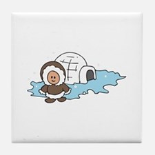 ESKIMO IGLOO Tile Coaster