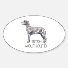 IRISH WOLFHOUND LETTERS Decal