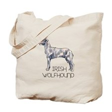 IRISH WOLFHOUND LETTERS Tote Bag