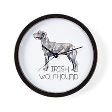 IRISH WOLFHOUND LETTERS Wall Clock