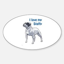 I LOVE MY STAFFY Decal