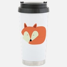 Sleepy Red Fox Travel Mug