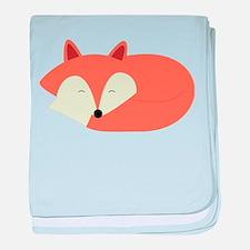 Sleepy Red Fox baby blanket