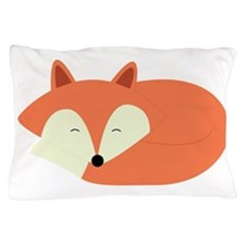 Sleepy Red Fox Pillow Case