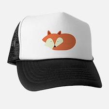 Sleepy Red Fox Trucker Hat