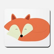 Sleepy Red Fox Mousepad
