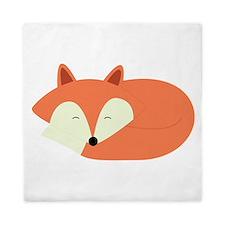 Sleepy Red Fox Queen Duvet