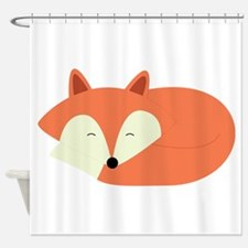 Sleepy Red Fox Shower Curtain