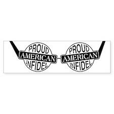 Proud American Infidel Bumper Bumper Sticker