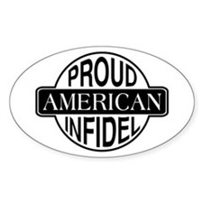 Proud American Infidel Oval Decal