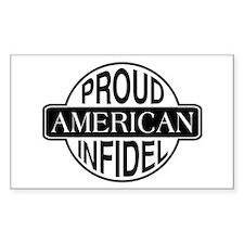 Proud American Infidel Rectangle Decal