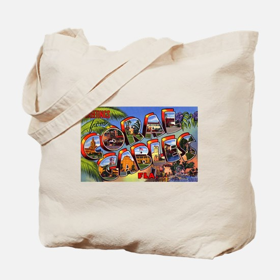 Coral Gables Florida Tote Bag
