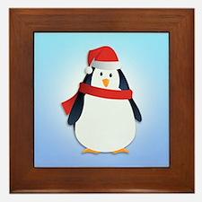 Christmas Penguin Framed Tile